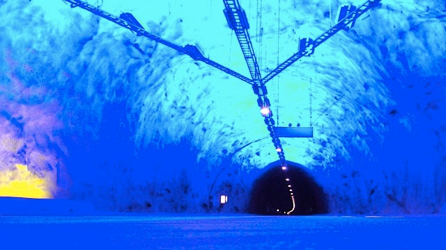 Driving through the world's longest road tunnel is a trip through hyperspace