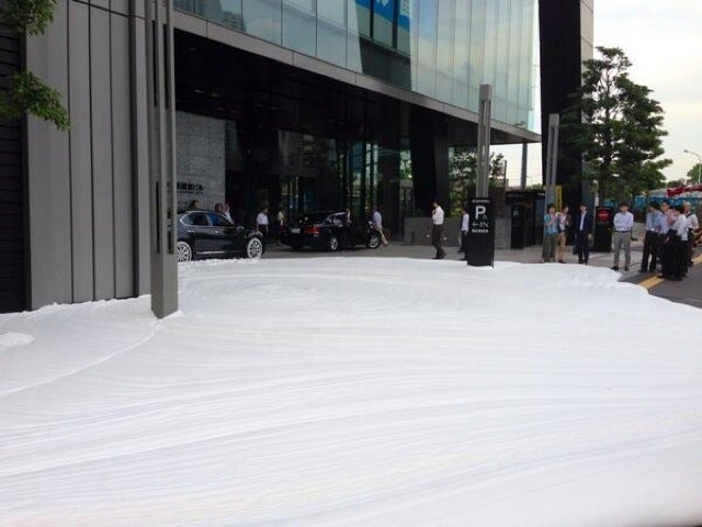 Foam Oozing Out of a Tokyo Street