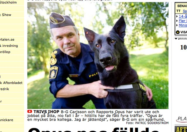 Swedish Police Have a Sperm-Sniffing Dog