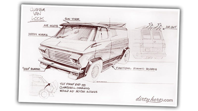 These Vintage Custom Van Design Sketches Are Van-Ripened Gold
