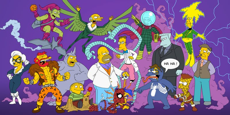 Nothing is coming up Milhouse in this Simpsons/Spider-Man mashup