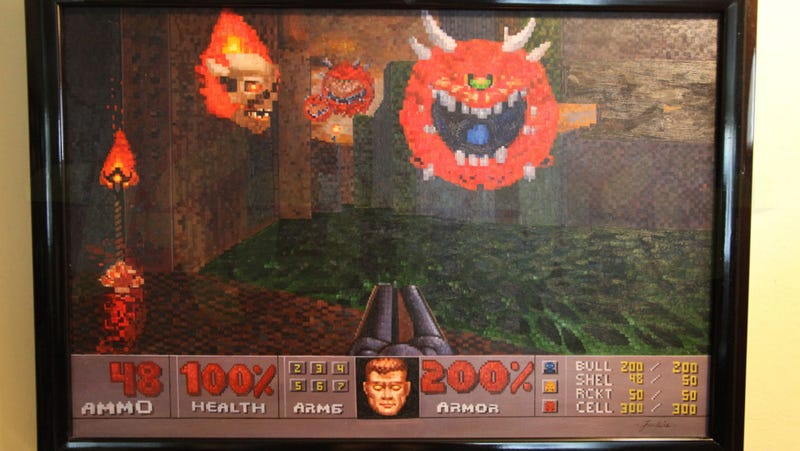 The Best Doom Painting Ever Is In John Romero's House