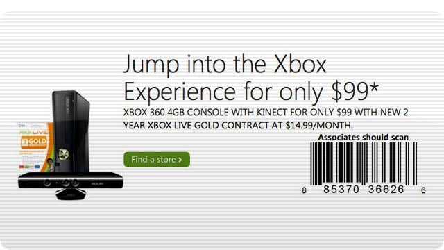You Can Get an Xbox/Kinect for $99 Now