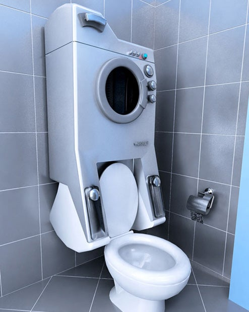 Washup: Toilet and Washing Machine All-in-One (Oh Yes!)