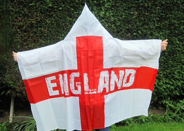 This England Wearable Flag Outfit Looks Like A Ku Klux Klan Outfit