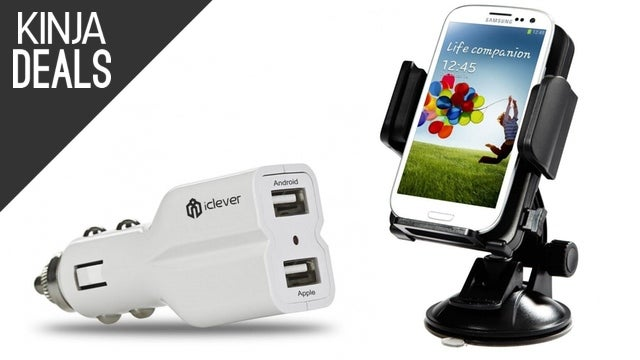 Bundle a Car Charger and Dash Mount Today for Just $13
