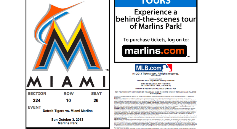 The Marlins Put The Wrong Date On Their Dumb, Fake No-Hitter Tickets