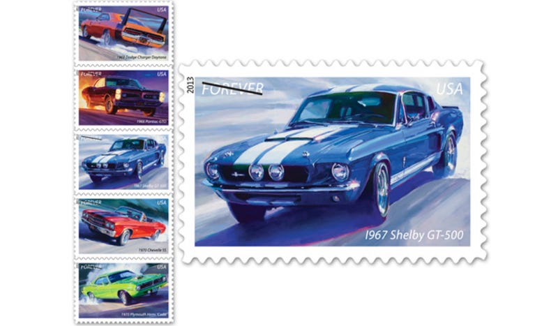 Muscle Car Stamps Actually Make Us Want To Send Mail Again