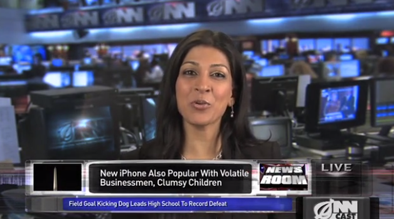The Onion: Apple's New College Girl-Friendly iPhone Comes With a Pre-Cracked Screen