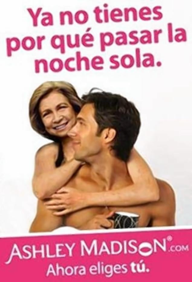 Ashley Madison Takes a Very Cheap Shot at Spain's Queen Sofia