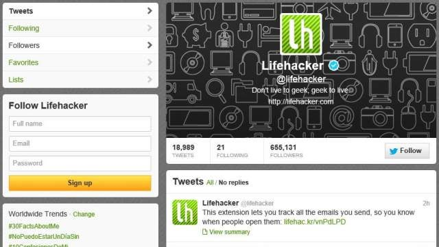 Follow Lifehacker on Twitter to Get All Our Stories Right as They Happen