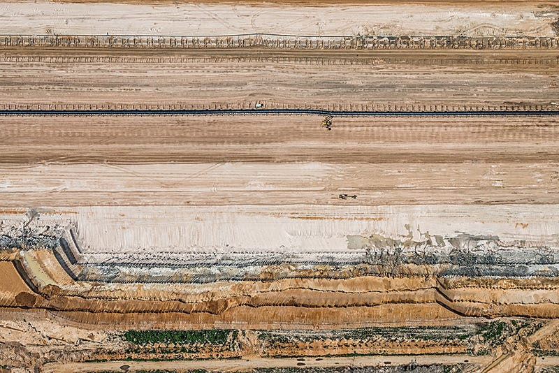 Aerial Photos of Coal Mining Pits Are Sublime and Terrifying