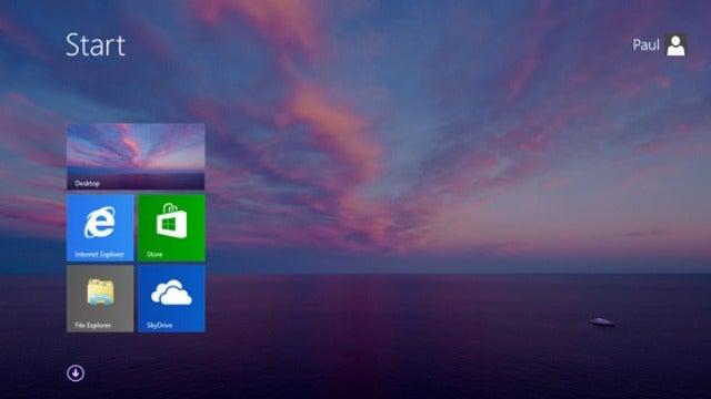 Una imagen filtrada de Windows 8.1 muestra de nuevo el botón de Inicio