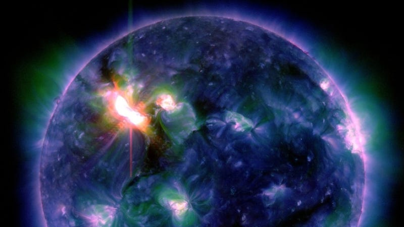 A huge coronal mass ejection slammed into Earth today