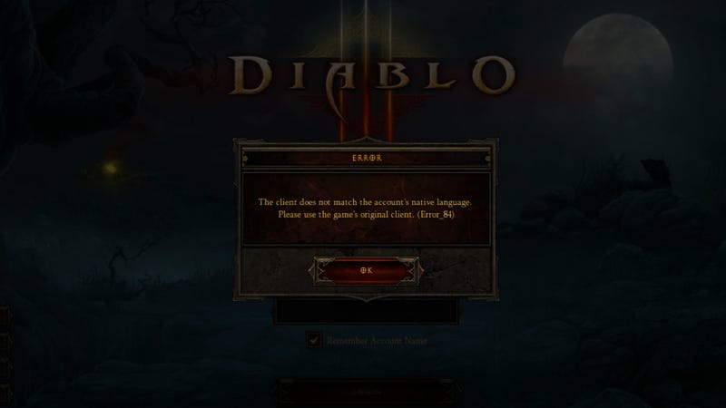 When Diablo III Doesn't Speak Your Language