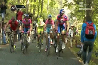Cycling Spectator Steps Aside, Falls Off The Face Of The Earth