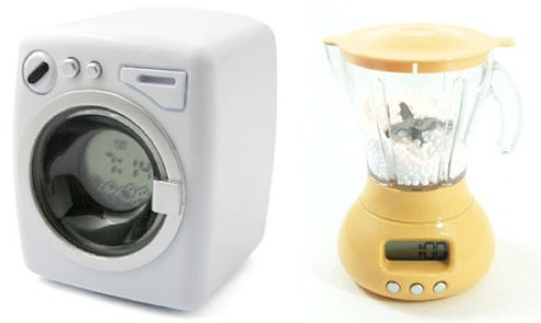 Home-Appliance Alarm Clocks, Wake You by Simulating Real Thing