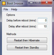 Boot Snooze Reboots and Hibernates Your Computer for Faster Startup Time