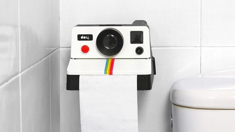 Polaroid Toilet Paper Holder Captures Memories You Don't Want To Keep