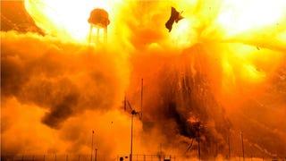 El infierno del cohete Antares al estallar, grabado a solo unos metros