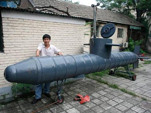 One-Man Submarine Built By One Man