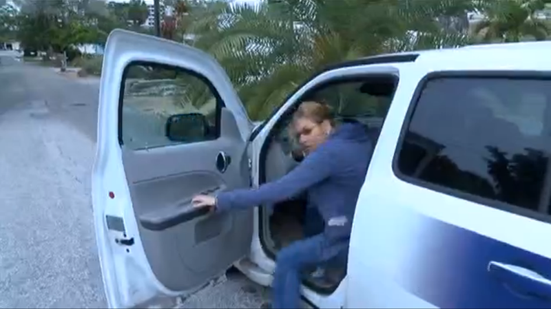 Florida Woman Steals a Reporter's Car On Camera