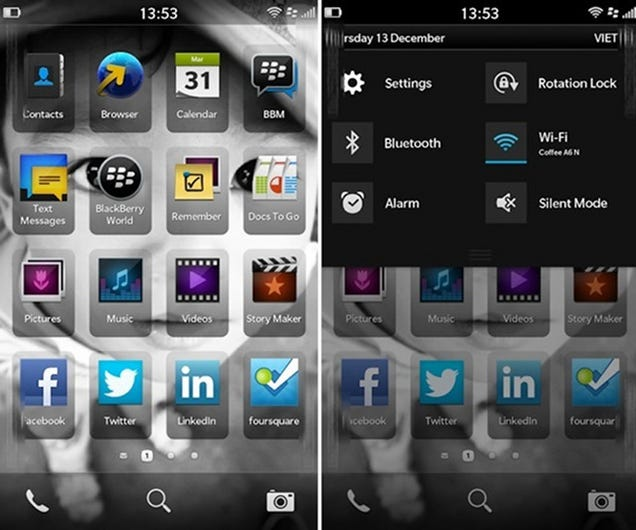 If This Is Blackberry's New OS, It Looks Very Familiar...