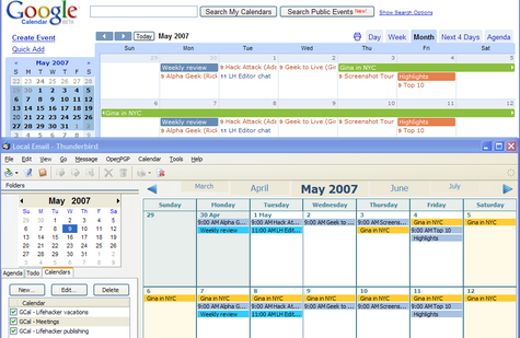 Geek to Live: Sync Google Calendar and Gmail contacts to your desktop