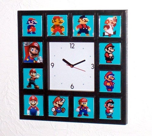This Wall Clock Shows How Mario Has Aged