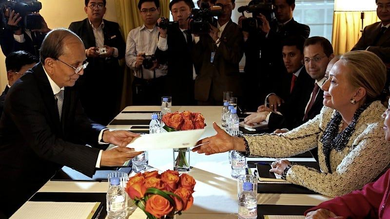 Even Myanmar's President Wants Hillary Clinton's Autograph