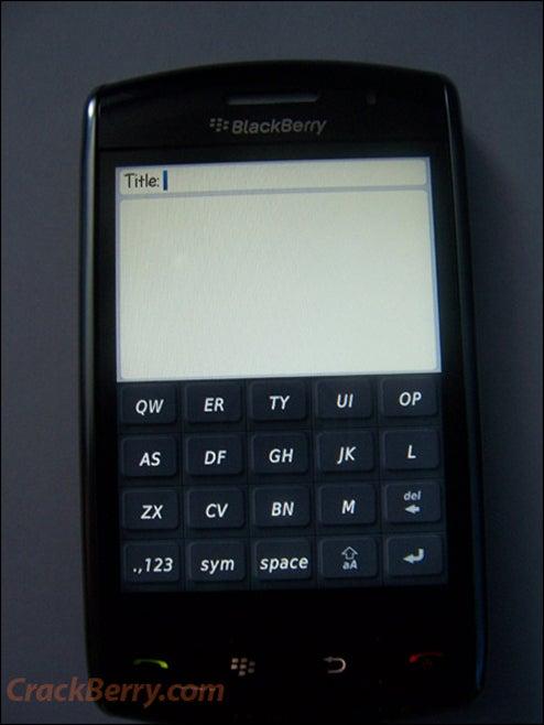 Touchscreen BlackBerry Storm First Live Shots