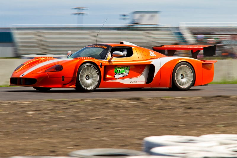 A MC12 racing for a good cause