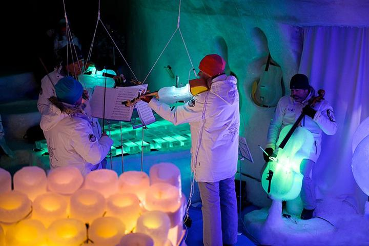 Coolest band in the world plays with musical instruments made from ice