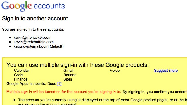 Google Multiple Sign-In Now Supports Up to 10 Accounts