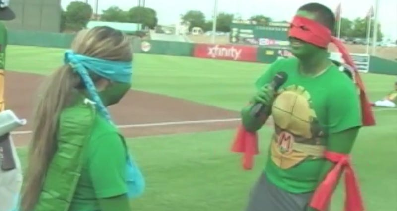 Watch This Couple Get Engaged While Wearing Ninja Turtles Costumes