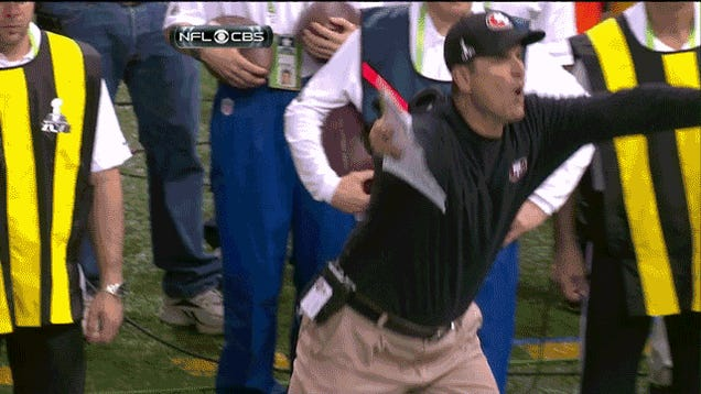Jim Harbaugh Tantrum GIF: Version 2,745