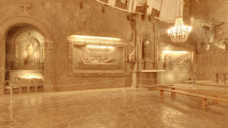 Take a Street View Tour of an Underground Chapel Built Out of Salt