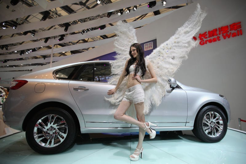 The booth professionals of the Shanghai Motor Show