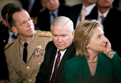 Hillary Clinton, Standing By Her Man While Under The Microscope