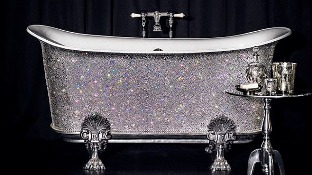 Buy This $200,000 Swarovski-Encrusted Bathtub and Cackle at Your Unfathomable Wealth