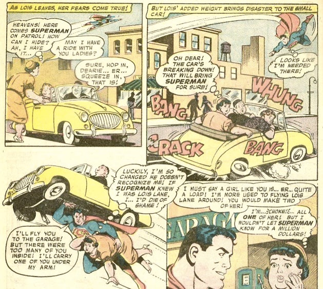 The wrongest scenes from the time Lois Lane got zapped with a weight-gain ray