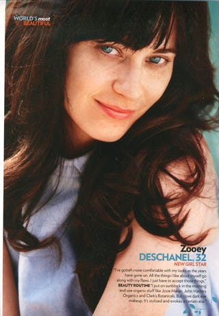 People Invites You to Gawk at Zooey Deschanel Without Makeup