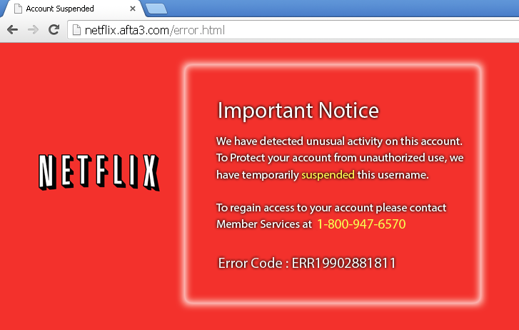 "New Netflix Phishing Scam Tricks You Into Calling Fake ""Tech Support"""