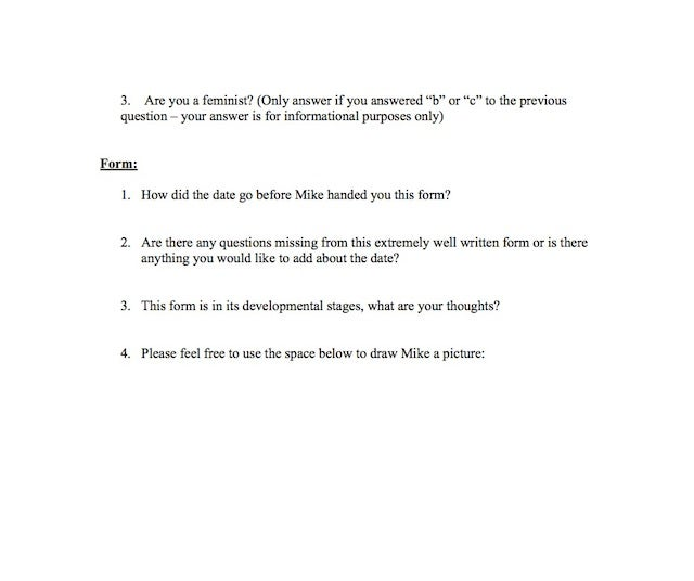 24-Year-Old Finance Guy Asks All His Dates To Complete A Creepy Survey Afterward