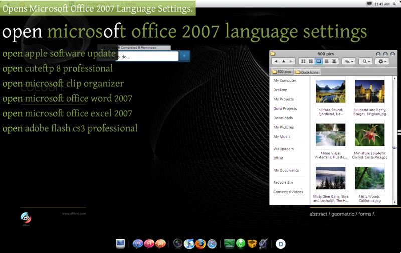 Two-Faced Mac-like Windows Desktop
