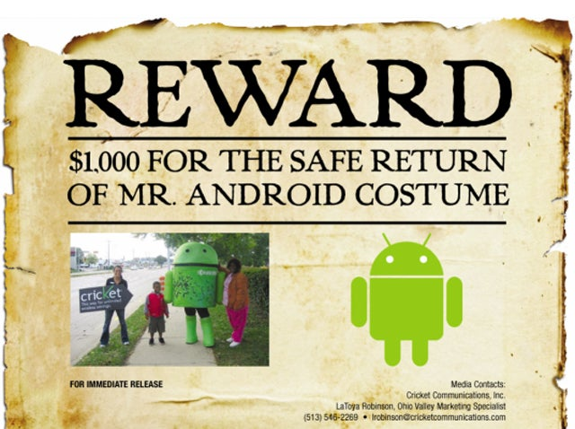 Someone's Stolen a 6-Foot Android Costume