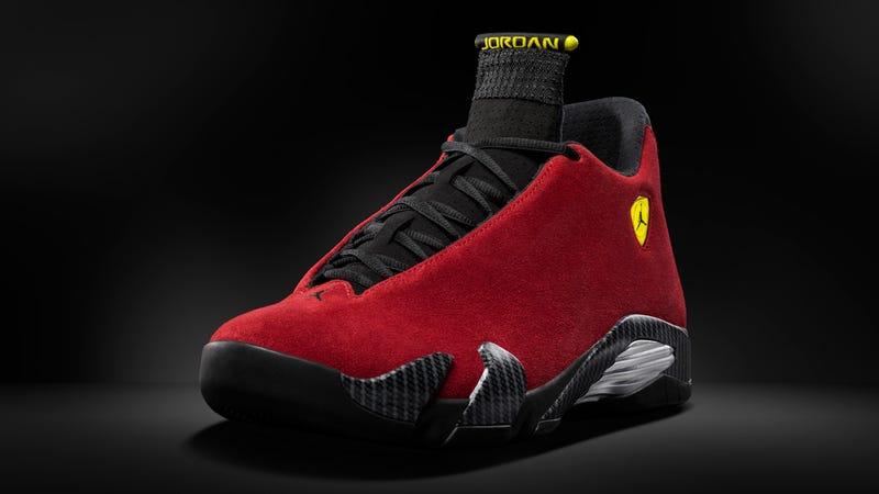 These new Ferrari-inspired Jordans drop tomorrow in Chicago