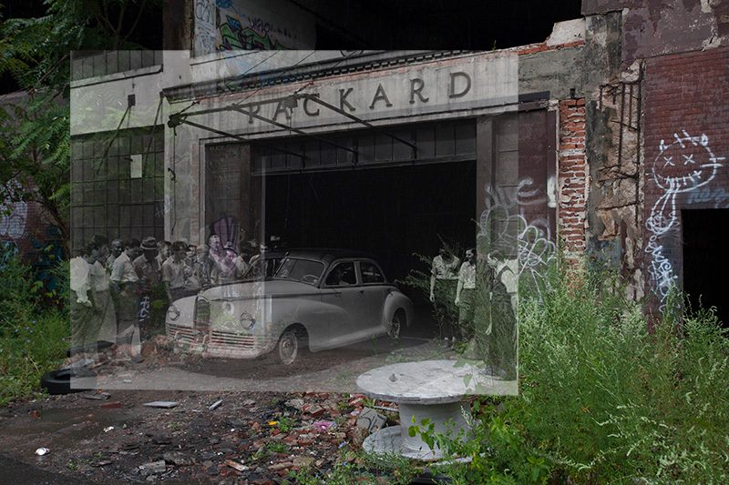 Then and Now Picture: Packard Plant