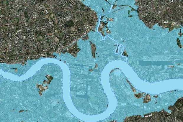 Visualisation of the damage the highest tidal surge in 60 years could have caused