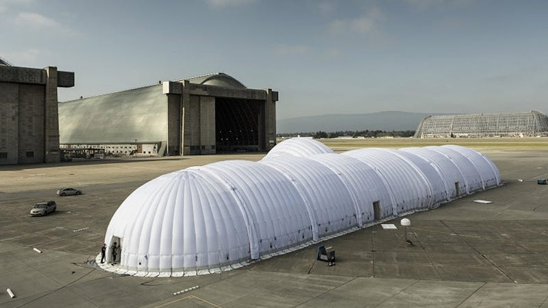 This Inflatable Aircraft Carrier Houses a Solar-Powered Wonder Plane